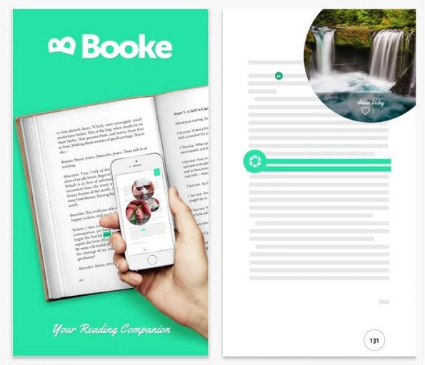 Booke soll Vorteile von E-Books und gedruckten Büchern vereinen. (Screenshot: Booke/iTunes)