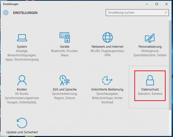 Datenschutz-Einstellungen bei Windows 10: Klausel in der Kritik der Verbraucherschützer. (Screenshot: Verbraucherzentrale NRW)