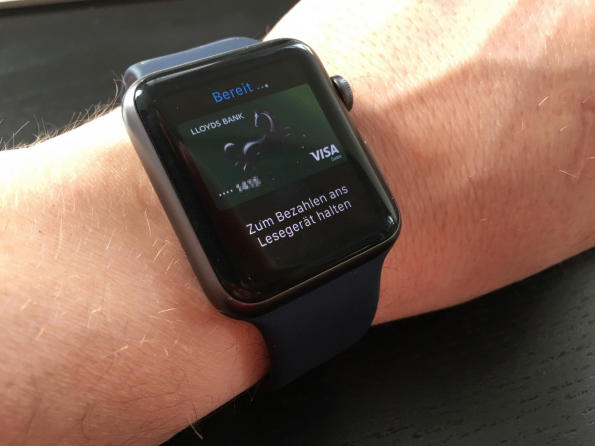 Apple Pay auf der Apple Watch (Foto: Maik Klotz)