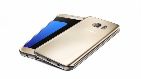 Das Samsung Galaxy S7 in Gold. (Bild: Samsung)