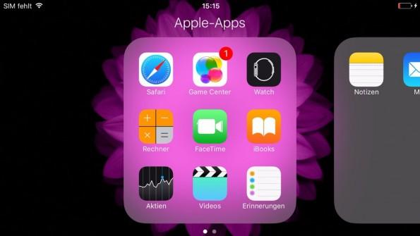 Apple Standard-Apps unter iOS: Mehr als eine Sammlung anlegen ist nicht möglich. (Screenshot: t3n)