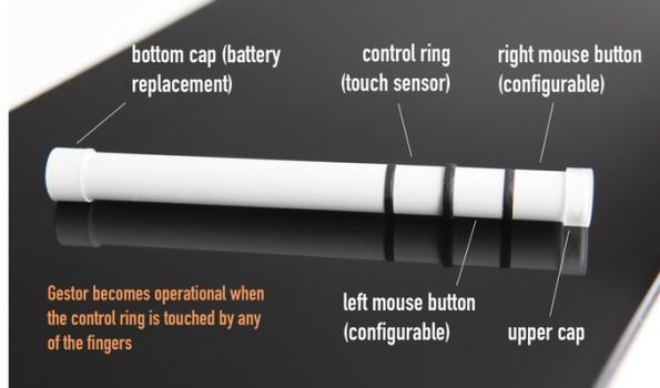 Gestor: Der kleine Stab soll als Ersatz für die Maus dienen. (Grafik: Gestor)