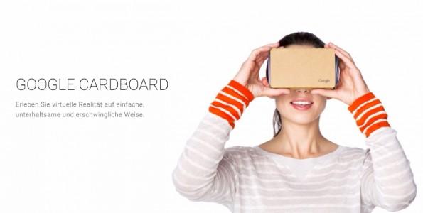 """Cardboard ist nur der Anfang: Bald gibt es auch """"echte"""" Virtual-Reality-Brille von Google – mit Android- VR-Support. (Bild: Google)"""