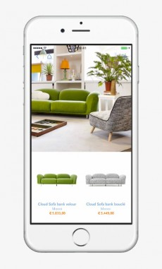 Der niederländische Design-Shop Flinders hat sich seine App von Highstreet entwickeln lassen. So sieht sie aus. (Screenshot: t3n.de)