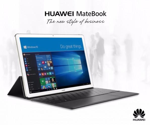 Das Huawei MateBook ist ein vollwertiger Windows-PC mit großem Display und optionaler Tastatur. (Quelle: Huawei)