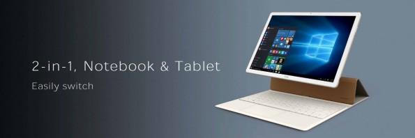 Erst durch die 149 Euro teure Tastatur wird das Tablet wirklich zum Convertible. (Quelle: Huawei)
