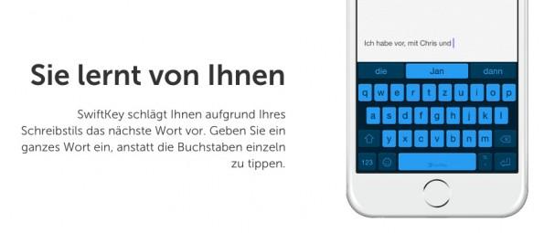 SwiftKey: Der Entwickler der beliebten Software-Tastatur gehört jetzt Microsoft. (Screenshot: SwiftKey)