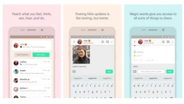 Ab sofort können auch Android-User dem Social Network Peach beitreten. (Bild: Screenshot)