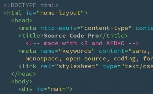 Source Code Pro ist einer der beliebtesten Coding-Fonts.
