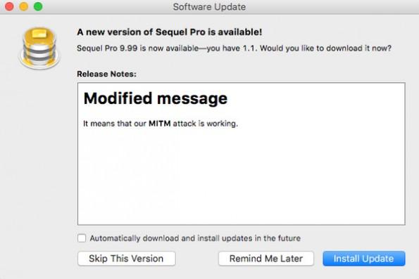 Eine Sicherheitslücke im Update-Prozess vieler OS-X-Apps macht Macs angreifbar. (Screenshot: Radek)