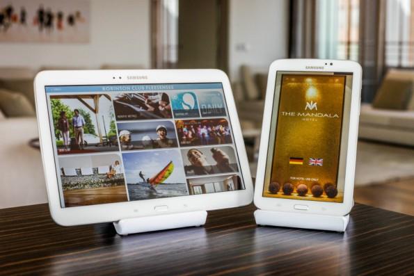 So sehen die Hotel-Tablets von SuitePad aus. (Foto: SuitePad)