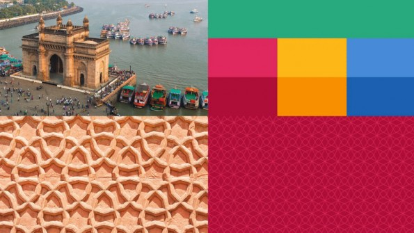 Die Farbwelt für den Uber-Auftritt in Indien basiert auf der Architektur und Kultur des Landes. (Bild: Uber)