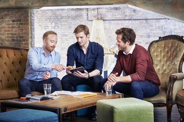 Die Zalando-Macher: Rubin Ritter, David Schneider und Robert Gentz. (Foto: Zalando)