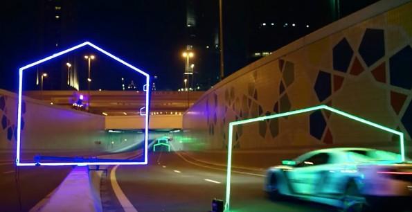 Drohnen-Rennen in Dubai: Mit 100 km/h über die Strecke. (Screenshot: YouTube/World Drone Prix)