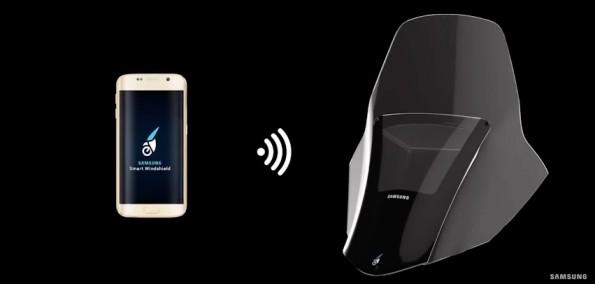 Smarte Windschutzscheibe: Samsung stellt Konzept für mehr Fahrsicherheit vor. (Screenshot: Samsung/YouTube)
