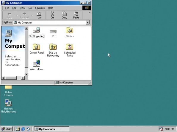 Windows 98 als Javascript-Klon. (Screenshot: Copy.sh)