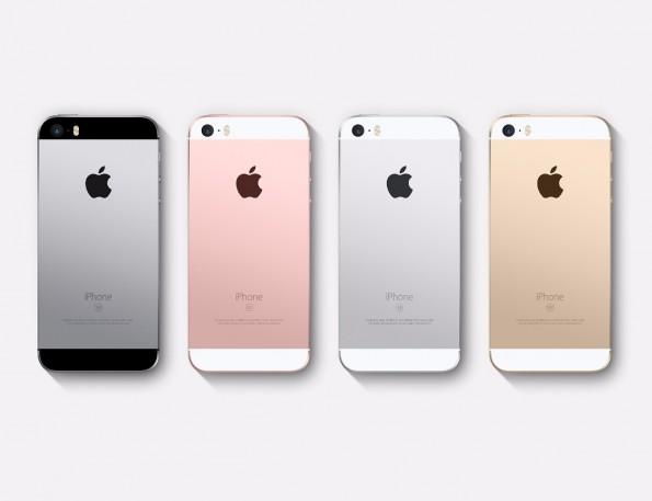 iPhone SE wird in den gleichen Farben wie das iPhone 6s angeboten. (Screenshot: Apple)