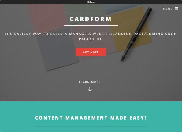 CardForm: Diese Website wurde in Trello erstellt. (Screenshot: CardForm)