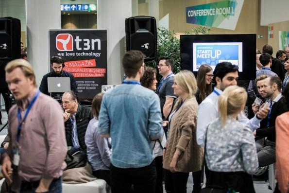 Exzellente Gelegenheit zum Netzwerken: Das Startup-Meetup auf der CeBIT. (Foto: Startup Meetup)