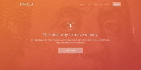 """""""The ideal way to move money"""", verspricht Fintech-Startup Dwolla. (Screenshot: dwolla.com)"""