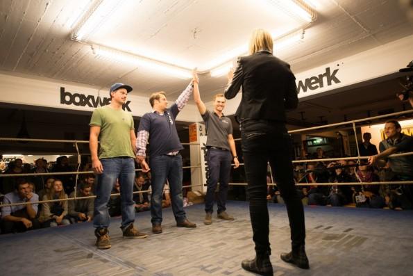 Beim Founders Fight Club treten Gründer im Boxring gegeneinander an – allerdings mit Worten. (Foto: Founders Fight Club)