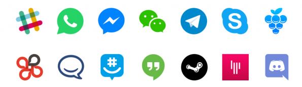 Franz: Folgende Messenger-Dienste werden unterstützt. (Screenshot: Franz)