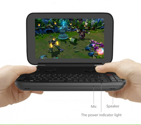 GPD Win: Ein platzsparendes Windows-Notebook. (Grafik: GPD)