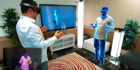 Holoportation: Videochat mit HoloLens-Brille. (Screenshot: Microsoft/YouTube)