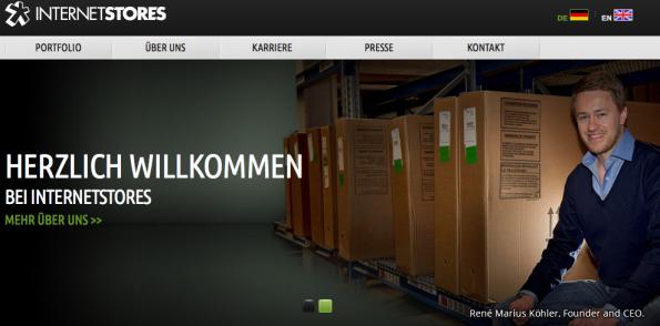 Internetstores ist ein Onlineshop aus Deutschland. (Screenshot: Internetstores)