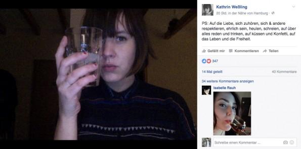 Was auf Facebook begann, schwappte schnell über zu Twitter. Kathrin Weßling initiiert den #AufDieLiebe-Hashtag als Reaktion auf Brüssel. (Foto: Kathrin Weßling)