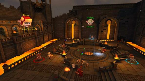 Mit dem Multiplayer Herobound: Gladiators könnt ihr mit euren Freunden gemeinsam in der virtuellen Welt gegen Trolle antreten. (Bild: Oculus)