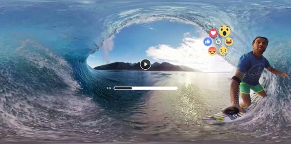 Liken und Sharen könnt ihr 360-Grad-Videos auch bald. (Bild: Oculus)