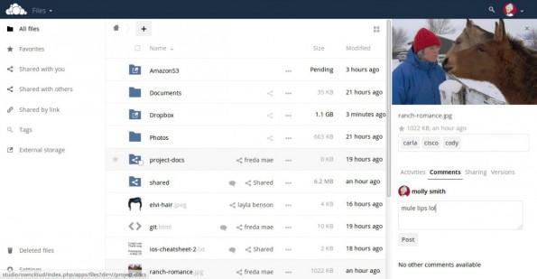 OwnCloud 9: Bei der neuen Version dreht sich vieles um die Zusammenarbeit in der Cloud. (Screenshot: owncloud.org)