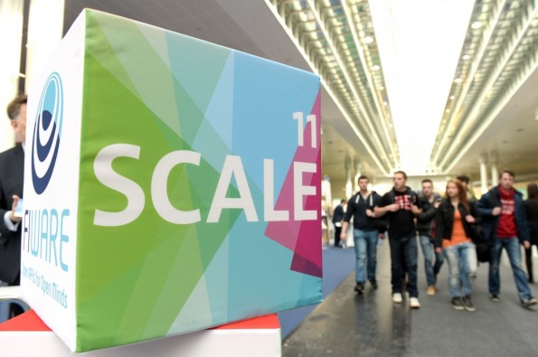 SCALE11: Die Startup-Messehalle auf der CeBIT. (Foto: Deutsche Messe)