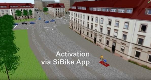 SiBike-App macht Ampeln für Radfahrer grün. (Screenshot: YouTube/Siemens)