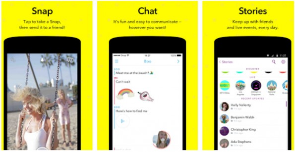 Snapchat hat seine Messaging-Funktion überarbeitet. (Screenshot: Play-Store)