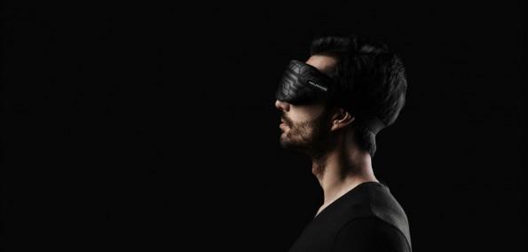 Die smarte Schlafmaske von Inteliclinic hilft beschäftigten Wissensarbeitern, neue Kraft zu tanken. (Foto: Inteliclinic)