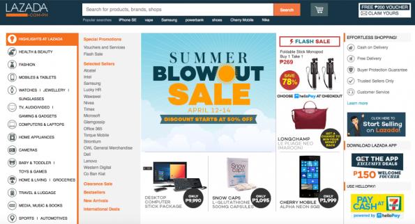 Der südostasiatische Amazon-Klon Lazada hat einen neuen Besitzer. (Screenshot: Lazada)