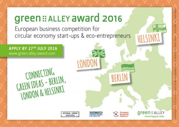 Startups: Die Verleihung des Green Alley Awards findet dieses Jahr zum dritten Mal statt. (Grafik: Green Alley)