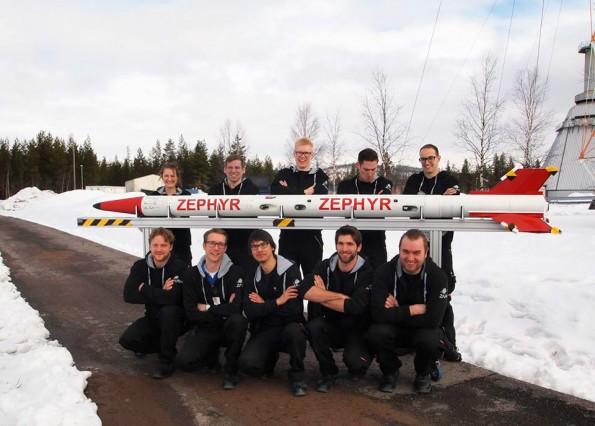 Bremer Studenten entwickelten Kerzenwachs-Rakete Zephyr. (Bild: ZARM)