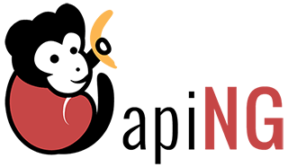Das AngularJS Module apiNG grüßt euch mit einem gut gelaunten Affen und einer Banane. (Screenshot: GitHub)