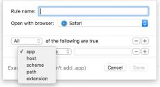 Die Regeln von BrowserHub (Screenshot: BrowserHub)
