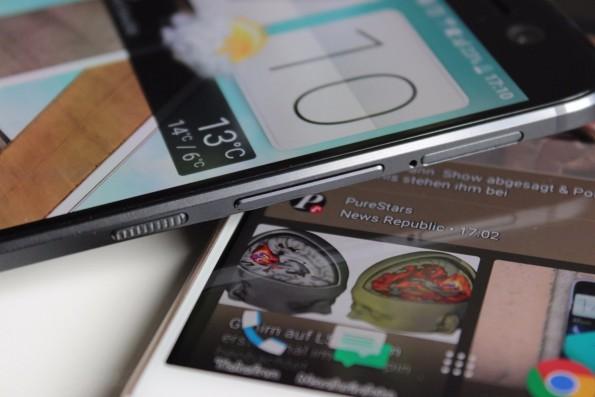 Da rutscht nichts: Der Powerbutton des HTC 10 besitzt einen guten Grip. (Foto. t3n)