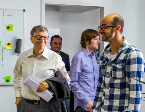 Zusammen mit Partnern investierte Bill Gates rund 35 Millionen US-Dollar in das von Madisch gegründete Wissenschaftsnetzwerk. (Foto: Ijad Madisch/Facebook)