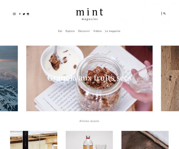 Übersichtlich, einfach zu verstehen und minimalistisch. (Screenshot: magazine-mint.fr)