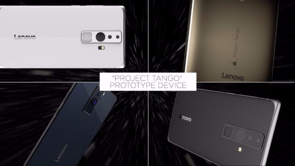 Auf der Google I/O 2016 wird das mit Lenovo entwickelte Tango-Smartphone endlich vorgestellt. (Bild Google)