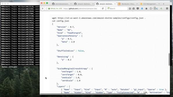 Empfehlungs-Software: Amazon DSSTNE ist jetzt Open Source. (Screenshot: YouTube/Julien Simon)
