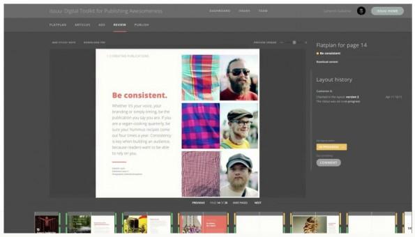 Issuu Collaborate: Neues Feature soll Zusammenarbeit bei Online-Publikationen erleichtern. (Screenshot: Issuu.com)