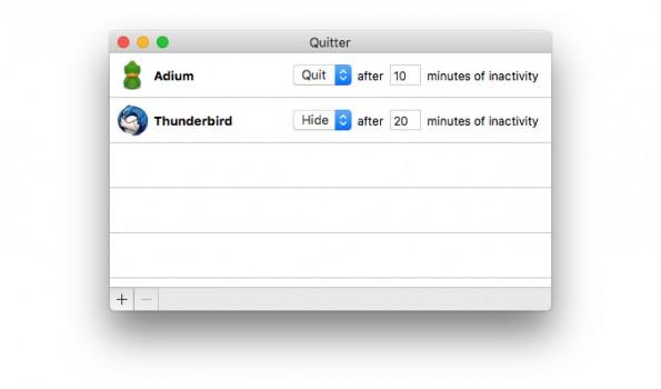 Quitter schließt ungenutzte Apps, die euch ablenken könnten. (Screenshot: Quitter)
