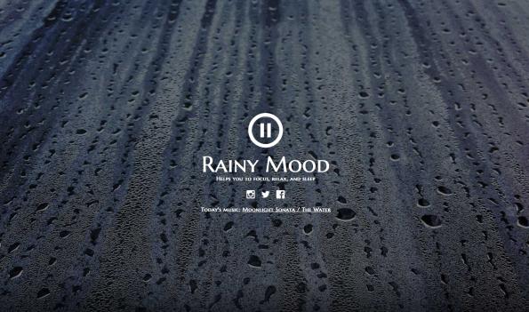Mit Rainy Mood holt ihr euch gemütliche Gewitter-Atmosphäre an den Schreibtisch. (Screenshot: Rainy Mood)